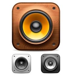 Audio speakers vector image