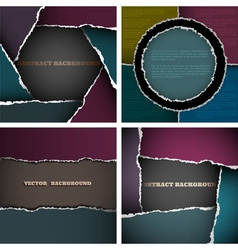 Backgrounds of torn paper vector