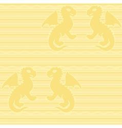 badragon seamless pattern vector image