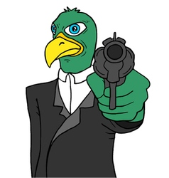 Bird gangster vector