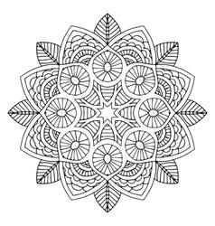 Black floral mandala vector