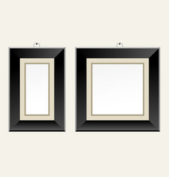 Black picture frame for art gallery or exhibition vector
