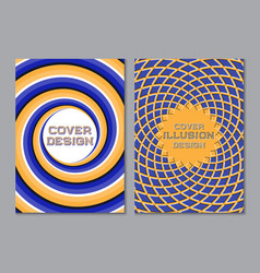 blue orange color scheme book cover design vector image