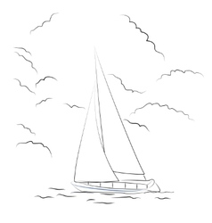 Boat sketch vector image