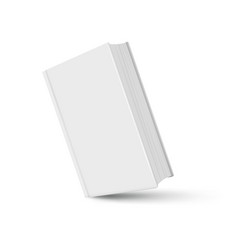 book mockup white realistic with shadow on white vector image
