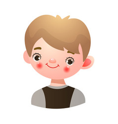 Boy with happy kind face expression vector