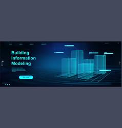 Building information modeling concept bim vector