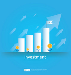 Business concept of achievement goal return vector