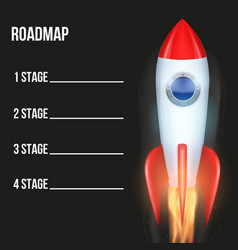 Business concept of timeline roadmap with rocket vector