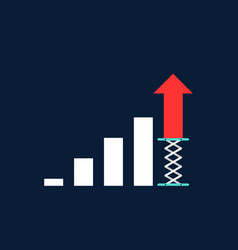 business growth concept flat design vector image
