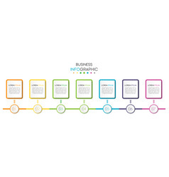 business infographic timeline data visualization vector image