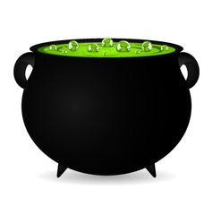 Cauldron witches potion for Halloween vector