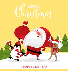 christmas holiday season background vector image