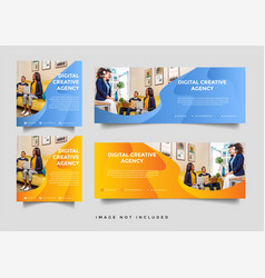 creative business facebook cover template vector image