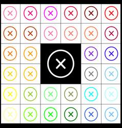 cross sign felt-pen 33 vector image
