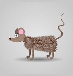 cute funny cartoon fluffy rat vector image