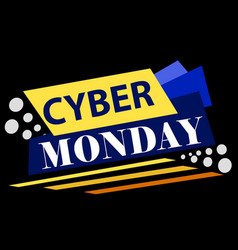 cyber monday banner poster layout design template vector image