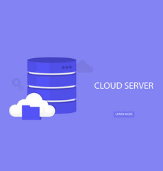 data storage network technology cloud service vector image
