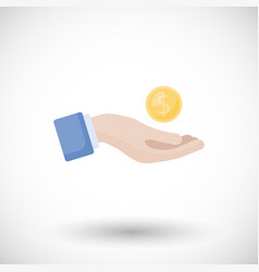 donation and charity flat icon flat design vector image
