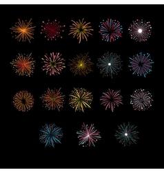 Festive Golden Firework Salute Burst vector image