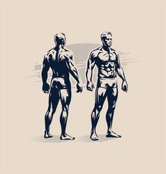 figure a muscular man vector image
