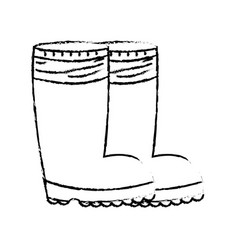 Figure rubber boots object to protection feet vector