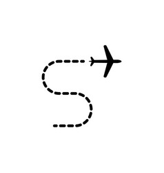 flight trajectory icon element of travel icon for vector image