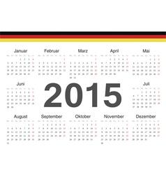 German circle calendar 2015 vector