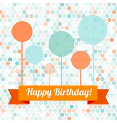 greeting card or invitation with spots pattern vector image