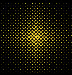 halftone heart background pattern - love concept vector image
