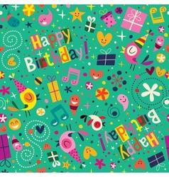 Happy Birthday pattern vector image