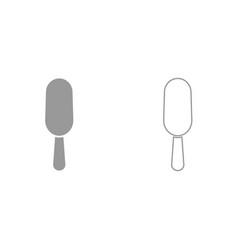 ice cream it is black icon vector image