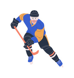 Ice hockey adult male player vector