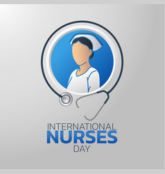 International nurses day logo icon design vector