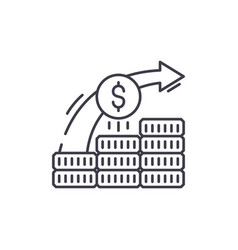 Investment system line icon concept investment vector