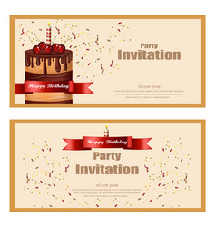 invitation party card birthday wedding vector image