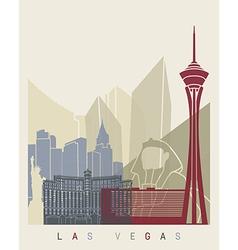Las Vegas skyline poster vector image