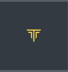 letter t with elegant color symbol design vector image