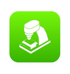 Machine tool icon green vector