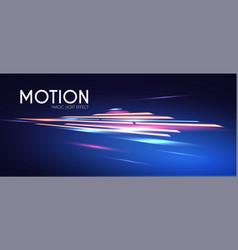 Magic neon light effect motion beam design vector