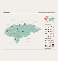 Map honduras high detailed country vector