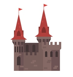 Medieval castle with towers - stronghold vector