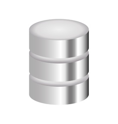 Metal data center icon vector