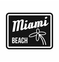 Miami beach icon simple style vector image