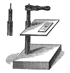 Microscope vintage engraving vector image
