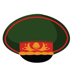 military cap on white background vector image