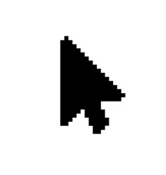 modern arrow cursor icon on white vector image