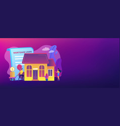 mortgage loan concept banner header vector image