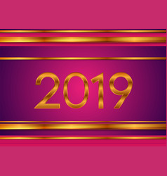 new year tech bronze and purple 2019 abstract vector image