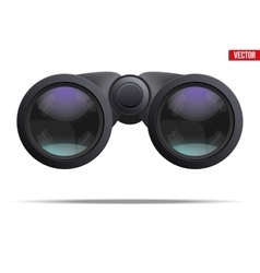 Optical binoculars vector image